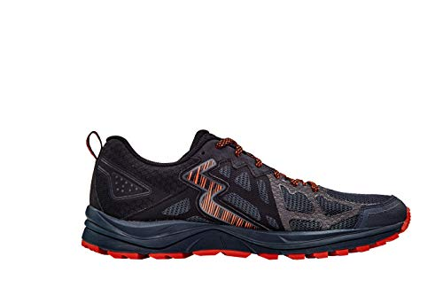 361 Degrees Men's Denali Mesh Upper Off-Road Trail Running Shoes, Ebony/Black, 12 Medium
