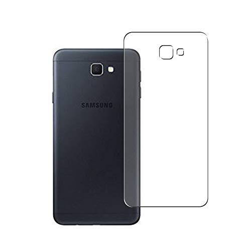 Vaxson 2 Stück Rückseite Schutzfolie, kompatibel mit Samsung Galaxy On7 2016 G6100 J7 Prime, Backcover Skin TPU Folie [nicht Panzerglas/nicht Front Bildschirmschutzfolie]