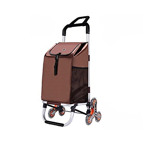 Carro De La Compra Pequeño Carro Anciano Luz De Hogar Compras Trolley Portátil Plegable Compras Trolley Coche 6 Rondas Trailley Trolley (Color : A)