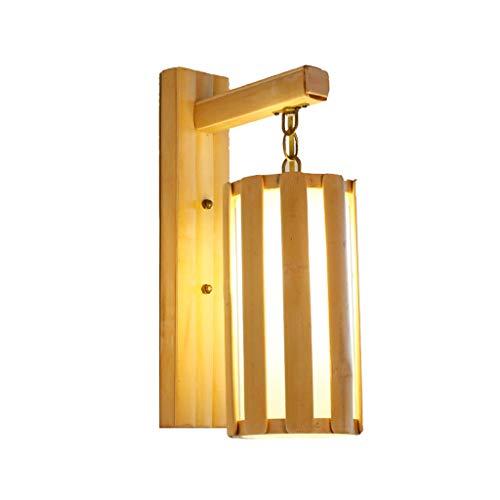 ZHEYANG Apliques Pared Dormitorio Interior Arte De Bambú Lámpara De Cabecera Escalera Pasillo Sala De Estar Luces del Dormitorio (Color : Vertical Bar)