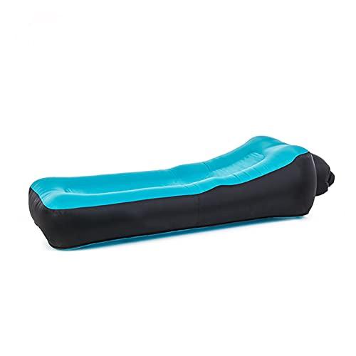 FGHFD Divano Gonfiabile per Adulti Sedia a Sdraio da Spiaggia Pieghevole Sacco a Pelo da Campeggio Sacco a Pelo Impermeabile Sacchi a Pelo da Campeggio Pigri Materassino Gonfiabile,Sea Blue