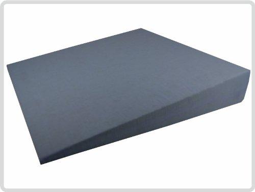 Keilkissen 100 % Baumwollbezug! - Farbe: Grau - Kissen Sitzkissen Sitzkeilkissen Sitzkissen Sitzkeil *Top-Qualität zum Top-Preis*