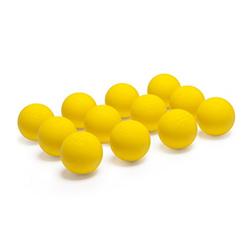 Champion Sports Colored Lacrosse Balls: Yellow Official Size Sporting Goods Equipment for Professional, College & Grade School Games, Practices & Recreation - NCAA, NFHS and SEI Certified - 12 Pack