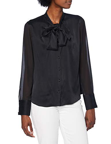 HUGO Damen Enriela 10214022 01 Bluse, Black1, 34