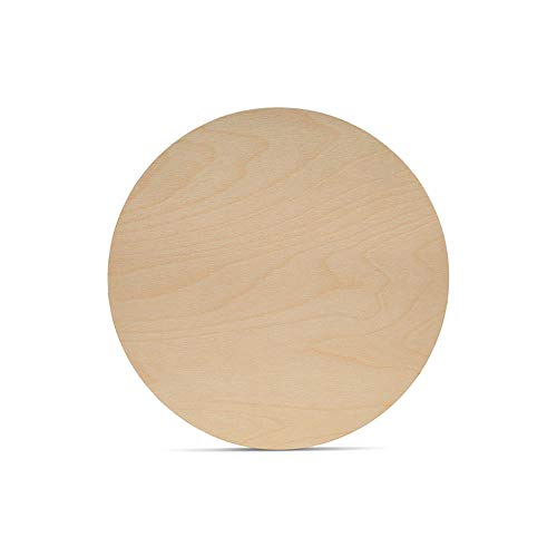 Wood Discs for Crafts, Blank Tokens, or Wooden Coins, 3 inch, 1/16 inch Thick, Pack of 100 Unfinished Wood Circles, by Woodpeckers