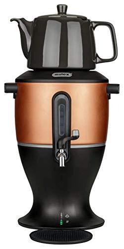 Mulex Samowar Teekocher kupfer 3,0 Liter, Porzellankanne