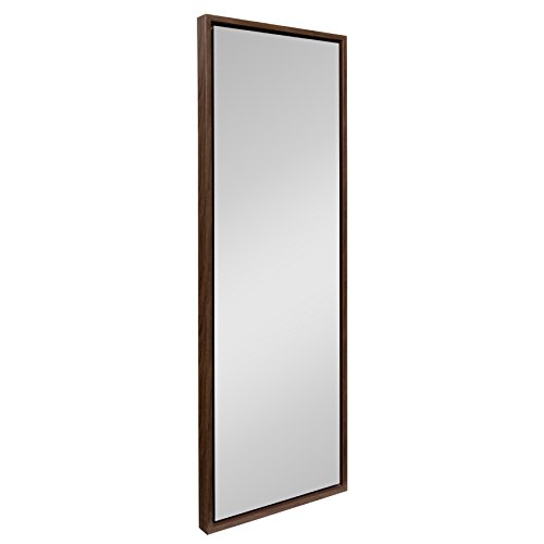 Kate and Laurel Evans Wood Framed Wall Panel Mirror, 16 x 48 Walnut Finish