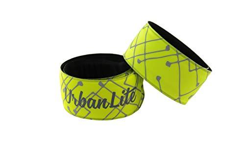 UrbanLite LED Leuchtarmbänder inklusive Batterien und Bonus-Reservebatterien