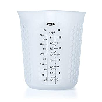 OXO Good Grips 2-Cup Squeeze & Pour Silicone Measuring Cup with Stay-Cool Pattern