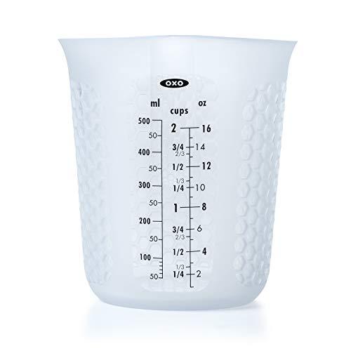 OXO Good Grips 11161000MLNYKEU Tasse à mesurer 500ml Blanc, Silicone