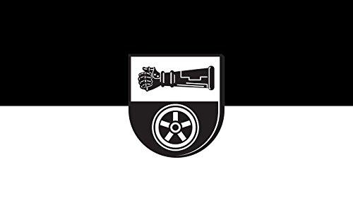 Unbekannt magFlags Tisch-Fahne/Tisch-Flagge: Jagsthausen 15x25cm inkl. Tisch-Ständer