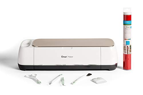 What Is the Best Cricut Machine - Cricut Maker Bundle with Vinyl Sampler and Basic Tool Set, Champagne