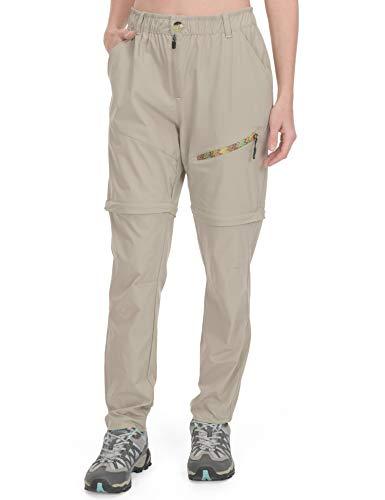 Little Donkey Andy - Pantaloni da trekking convertibili da donna, leggeri, con cerniera, ad asciugatura rapida, UPF 50, Donna, Pantaloni Khaki, Medium
