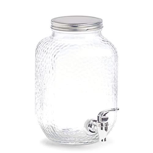 Zeller Getränkespender, 3,7 ltr, Glas/Metall, transparent, ca. 20, 4 x 15, 2 x 25, 4 cm