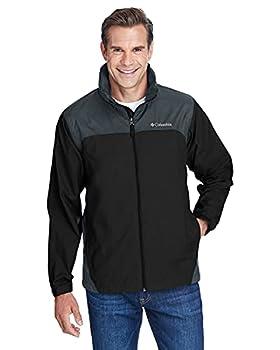 Columbia Men s Glennaker Lake Front-Zip Jacket Black/Grill Medium