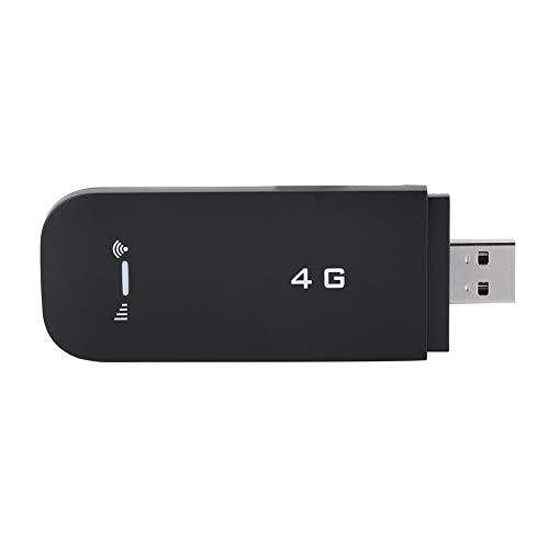 Mugast LTE Surfstick, Mobiler Hotspot Router 4G Wi-Fi Hotspot LTE Modem USB WiFi Wireless Router,Tragbar 4G FDD B1/B3 USB WiFi Dongle Modem Adapter USB Netzwerkkarte Schwarz(Mit WiFi)