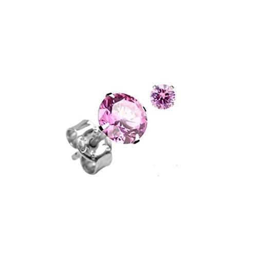 Durshani Punto Luce in Argento Unisex Cristallo Swarovski 2 Carati - Rosa by