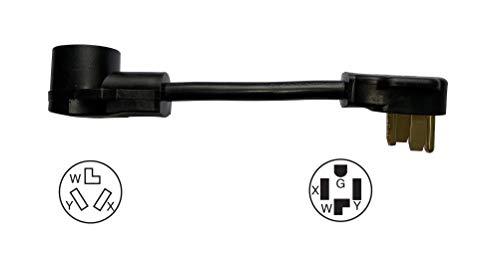 ONETAK NEMA 14-30P to 10-30R 120V/240V 30 Amp Welder Welding Dryer EV Charger Power Cord Adapter Adaptor Connector Connecter