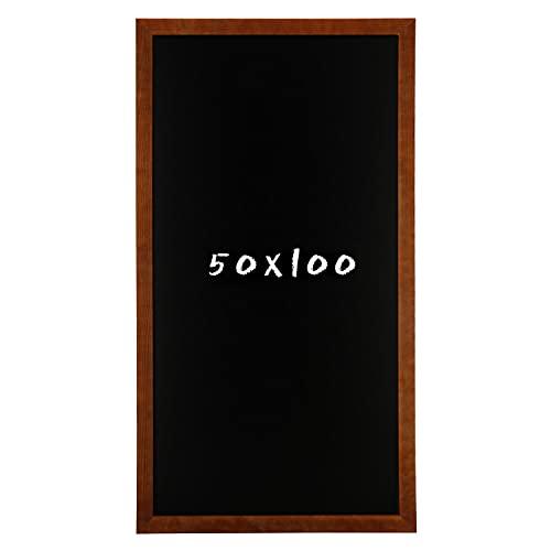 postergaleria Tableau Noir pour Mur |50x000cm |Brown |Tableau Noir en Bois de pin (HDF) |avec de la Craie et Une Ficelle à Suspendre |Beaucoup de Couleurs
