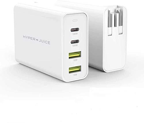 国内正規品 HyperJuice GaN 100W Dual USB-C/USB-A ACアダプタ 窒化ガリウム(GaN)技術採用 小型高出力 海...