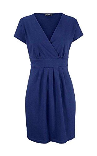 Chillytime Damen-Kleid Kleid mit Raffungen Blau Größe 38