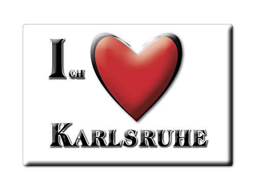 Enjoymagnets Karlsruhe (BW) Souvenir Deutschland Baden WÜRTTEMBERG Fridge Magnet KÜHLSCHRANK Magnet ICH Liebe I Love