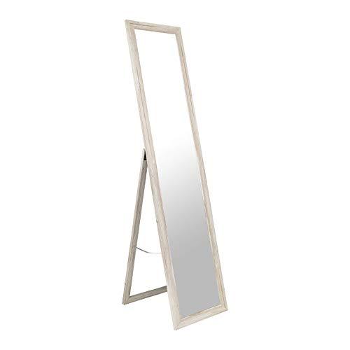 BD ART Stand-Ankleidespiegel Rustikal Kiefer 155,8 x 35,8 cm Vintage Shabby Chic Standspiegel Garderobe Standspiegel Rustikal Zeitloser eleganter MDF Rahmen