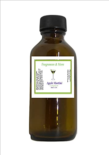 Apple Martini Fragrance Oil| for Soap Making| Candle Making| for Use with Diffusers| Add to Bath & Body Products| Home and Office Scents| 2 oz Amber Glass Bottle