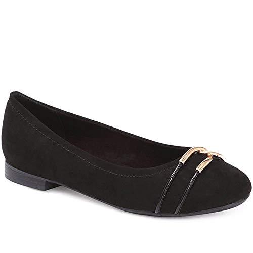 Pavers Mujer Zapatos Bailarinas Negro 37 EU