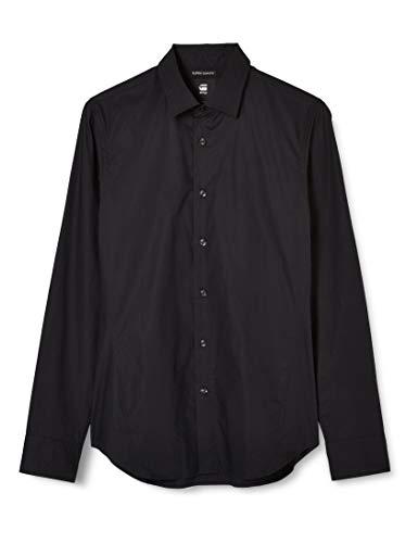 G-STAR RAW Herren Shirt Dressed Super Slim, Dk Black C271-6484, Medium