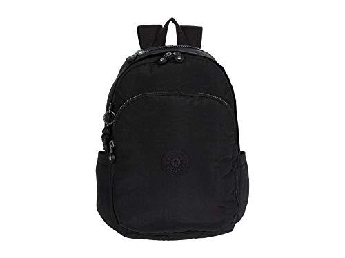 Kipling Women's Delia Medium Backpack, Black Noir, 12.25'L x 14.5'H x 8'D