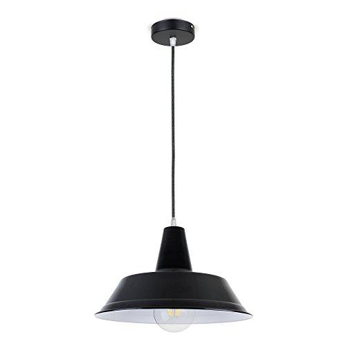 CD Cables-ophanging lampenkap zombrero metaal zwart, Lamé-kabel grijs 1 meter