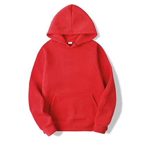 Sudaderas con capucha para hombre de color sólido cálido sudadera de chándal rosa rojo negro