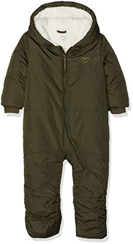 NAME IT NAME IT Baby-Jungen NBMMAKI Suit W. FOLD UP FEET Schneeanzug, Grün (Forest Night Forest Night), 50