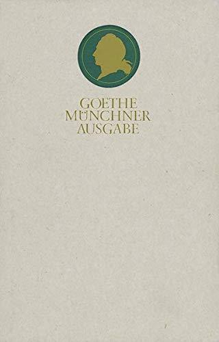 Sämtliche Werke nach Epochen seines Schaffens: MÜNCHNER AUSGABE Band 20.1: Briefwechsel zwischen Goethe und Zelter. 1.Teil