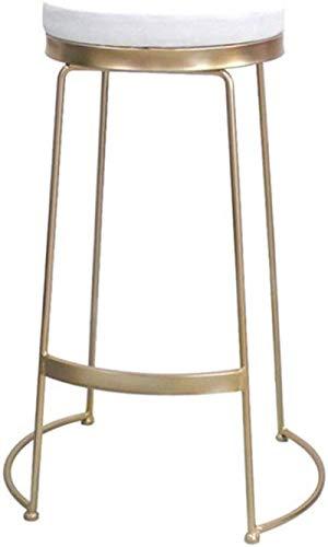 Taburete moderno de tela con reposapiés y respaldo para bar, pub, comedor, cocina, muebles para el hogar (tamaño: 65 cm) (tamaño: 65 cm) (tamaño: 65 cm)