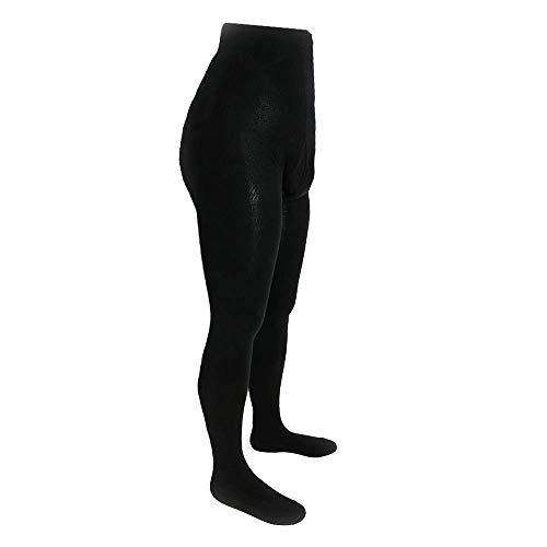 Shimasocks Strumpfhose für Herren mit Eingriff - Baumwollstrumpfhose auch in Übergröße, schwarz anthrazit, blickdicht, Herrenstrumpfhose aus Baumwolle für Winter, Farben alle:schwarz, Größe:46/48