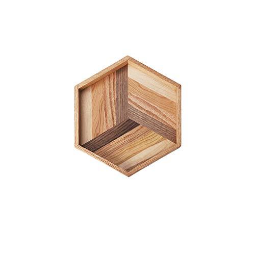 Somine houten dienblad Ottomaanse lade met anti-slip bodem rechthoekig massief hout handgemaakte ontbijt lade natuurlijke walnoot eiken decoratieve Platters voor thuis keuken bed partij Hexagon