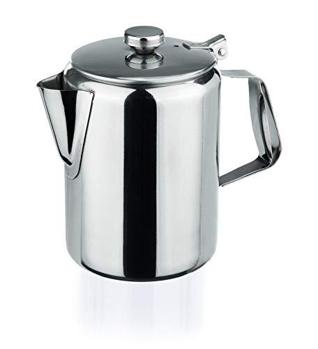 Kaffeekanne aus Chromnickelstahl, hochglanzpoliert, 3,0 Liter Inhalt, 6 Verschiedene Größen, Gastronomie-Qualität