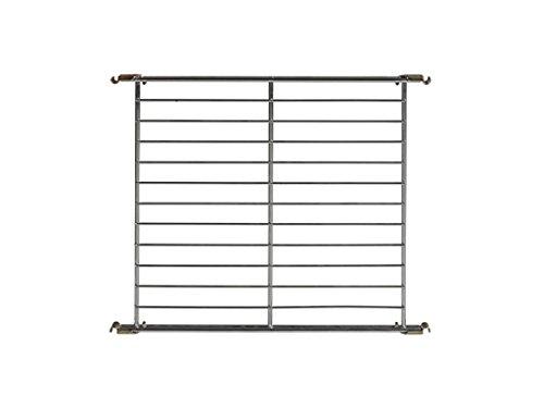 Balton Gitterboden BIII mit 4 Beschlägen für Regal Systeme, Metall, Chrom, 46 x 38 x 2 cm