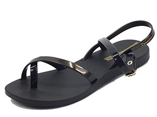 Ipanema Fashion Sand VIII Fem, Sandalias Mujer, Black/Gold Black, 40 EU