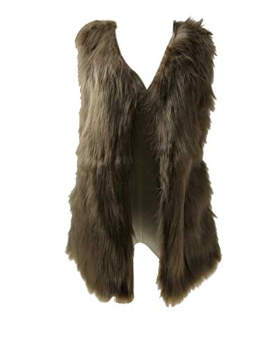 Nvfshreu bontvest dames herfst winter dik modieus vest elegant warm comfort maten synthetisch bont vest losse effen kleuren mouwloos vest vest vest vest