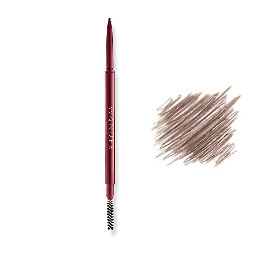 Eyebrow Pencil - Mechanical Pencil for Microblading Look - WANDER BEAUTY FRAME YOUR FACE MICRO BROW PENCIL - Eyebrow Shaper, Precision Eyebrow Pencil & Brow Brush. No smudge eyebrow color and filler.