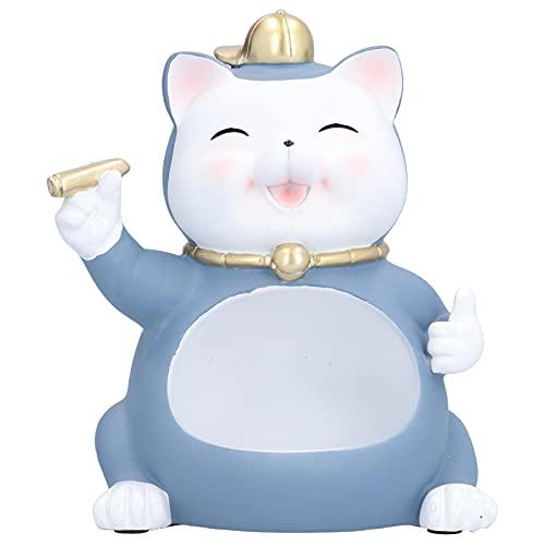 01 Estatua de Gato, Caja de Almacenamiento de estatuilla de Gato de Gran Capacidad Delicada de Resina para Mesa para Mesa para Estante