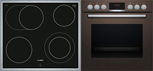 Bosch HND411LM61 Einbau-Backofen-Elektrokochfeld-Kombination/A / 60 cm / 71 l/Braun/Wärmeverteilung auf 3 Ebenen, GranitEMail, Bräterzone