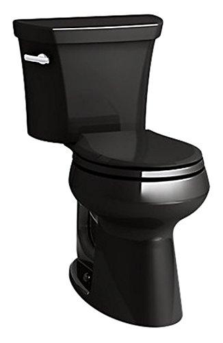 Kohler K-5481-7 Highline Comfort Height Toilet, Black Black
