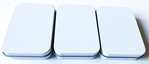 Spieltz 52368: Kartendose / Spielkarten-Box aus Metall, weiß lackiert. Elegante Verpackung für Kartenspiele. Packungsgröße: 3 Stück