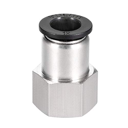 Empuje para conectar el adaptador de conexión de tubo de 12 mm, tubo OD X 1/2NPT, empalme neumático recto, hembra, conector de manguera.