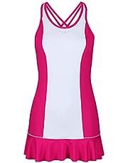 Bace Pink & White Frill Skirt Dress (Colour Block) Vestido de Tenis Niñas