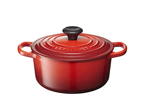 Le Creuset Signature Enameled Cast-Iron Round French (Dutch) Oven, 2-Quart, Cerise (Cherry Red)